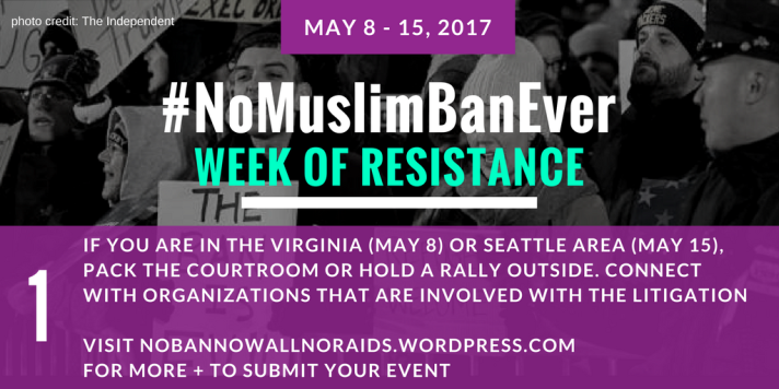 #NoMuslimBanEver Step 1
