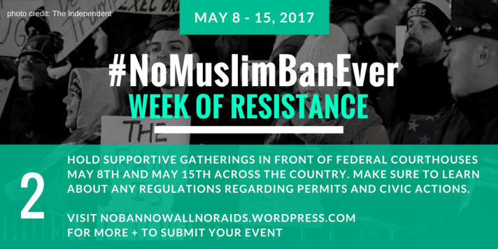 #NoMuslimBanEver Step 2