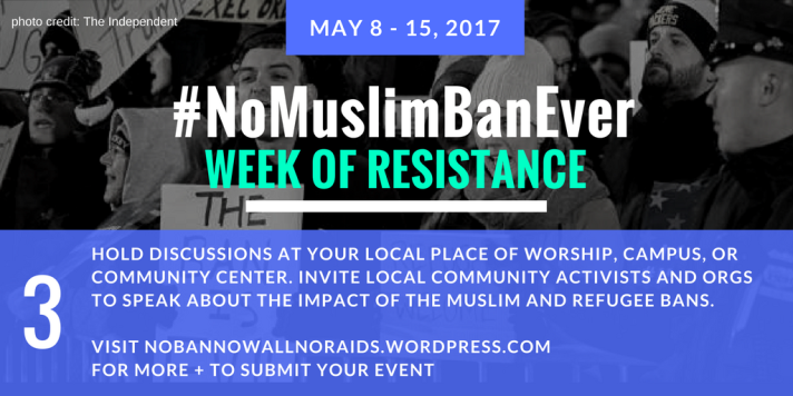#NoMuslimBanEver Step 3