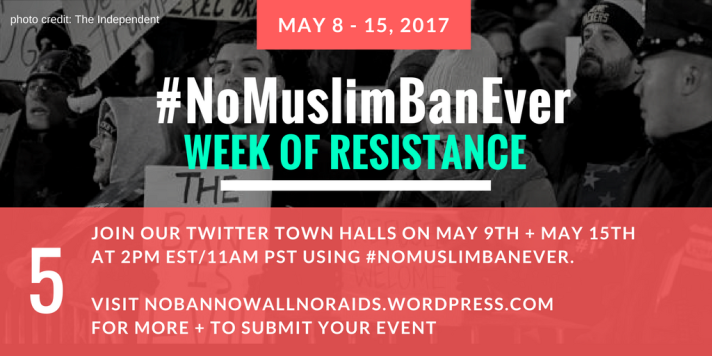 #NoMuslimBanEver Step 5